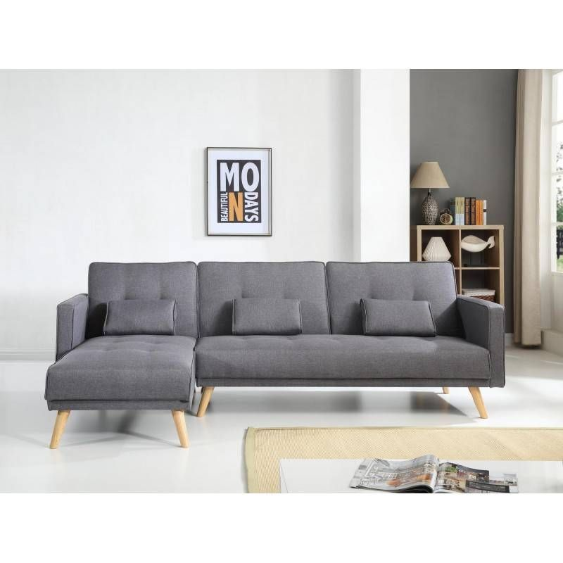 Canape Convertible Scandinave Scandinave Canape D Angle Reversible Convertible Gris In 2020 Canape Sofa Sofa Sectional Couch