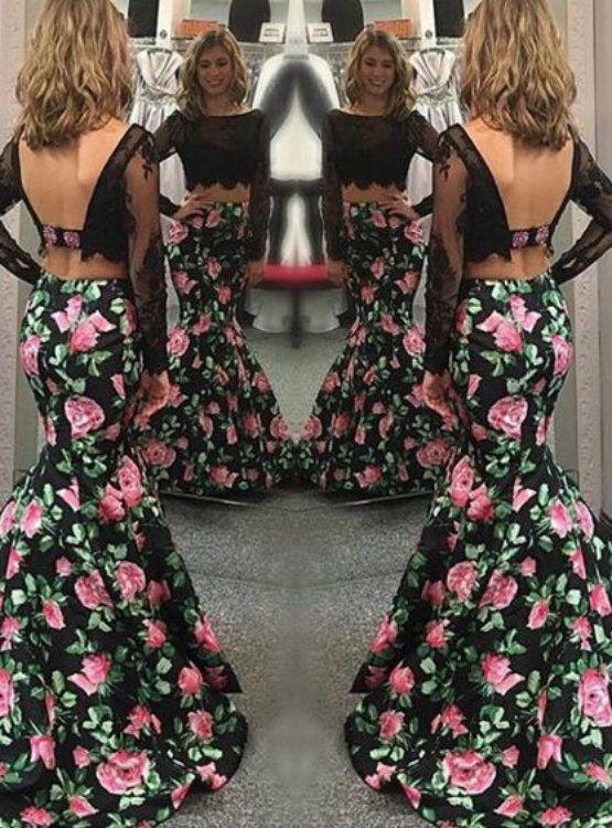 prom dress prom dress 2017 tow pieces