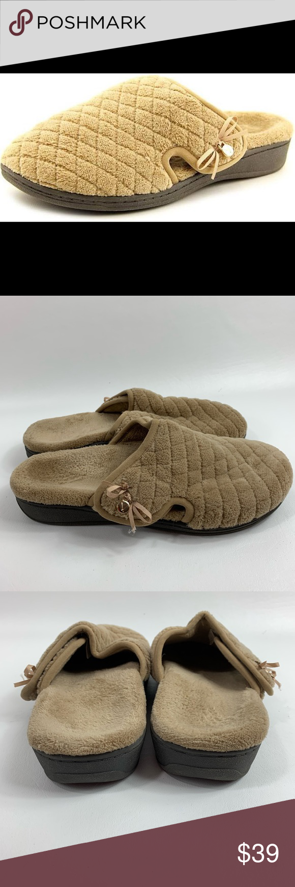 0f0aae96d12eb Vionic Adilyn Women Round Toe Canvas Slipper 8 Vionic slippers women's size  8 tan beige slip on very comfortable like new condition #505 Vionic Shoes  ...