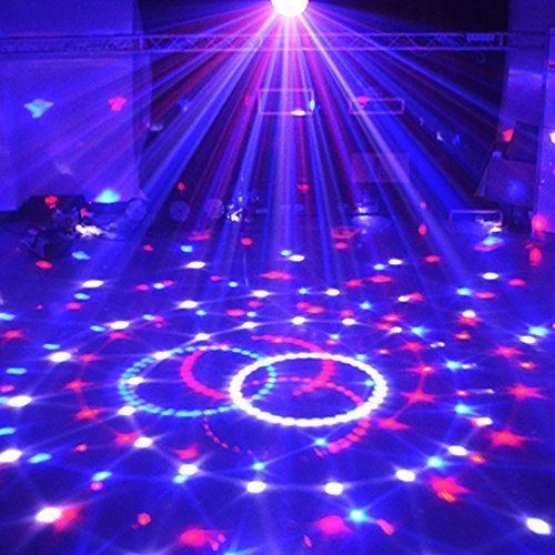 RGB Strobe Lamp Rotating Ball Led Stage Laser Lights KTV Party Disco Club DJ