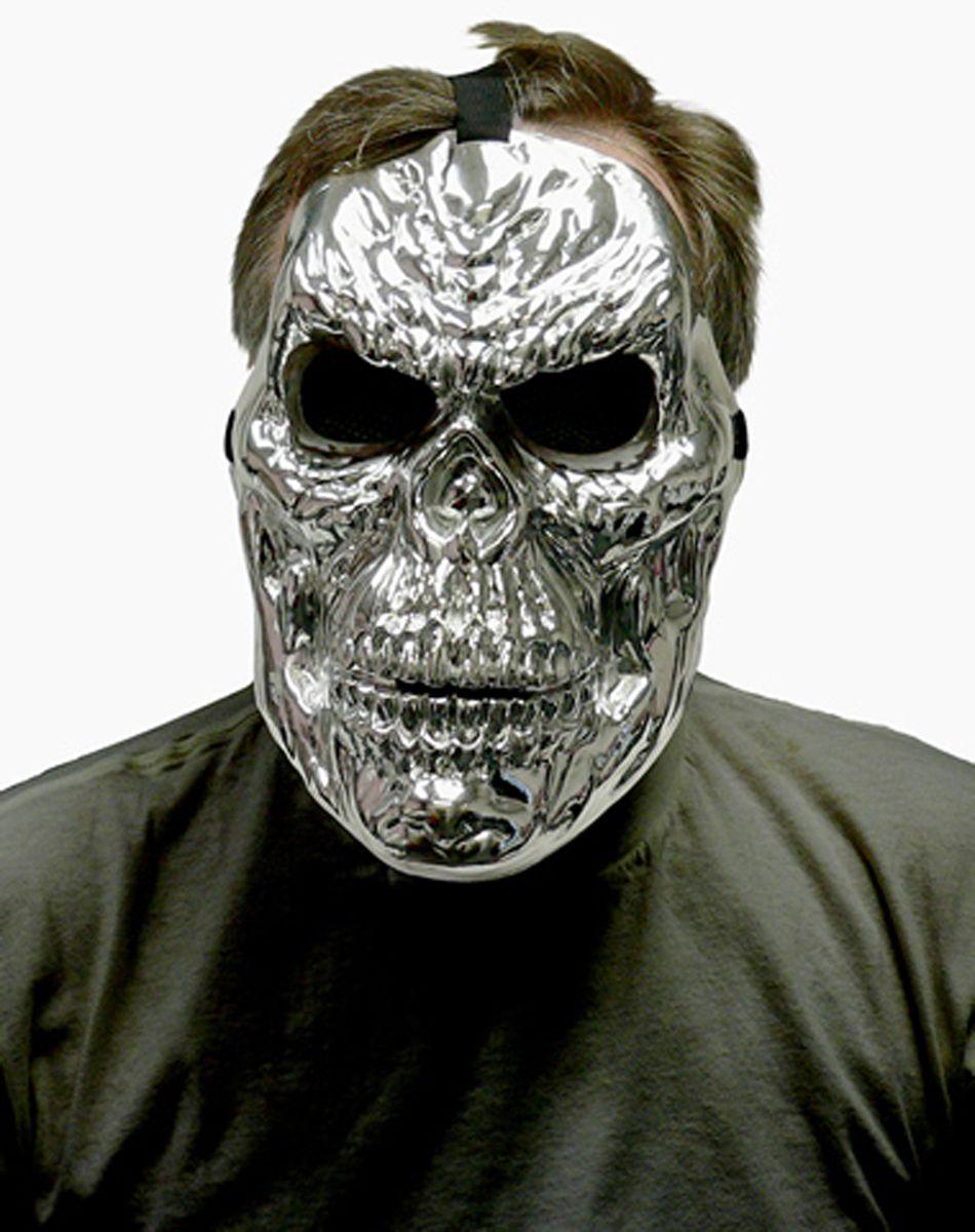 Silver Metallic Skull Mask – Spirit Halloween | OMP's Halloween ...