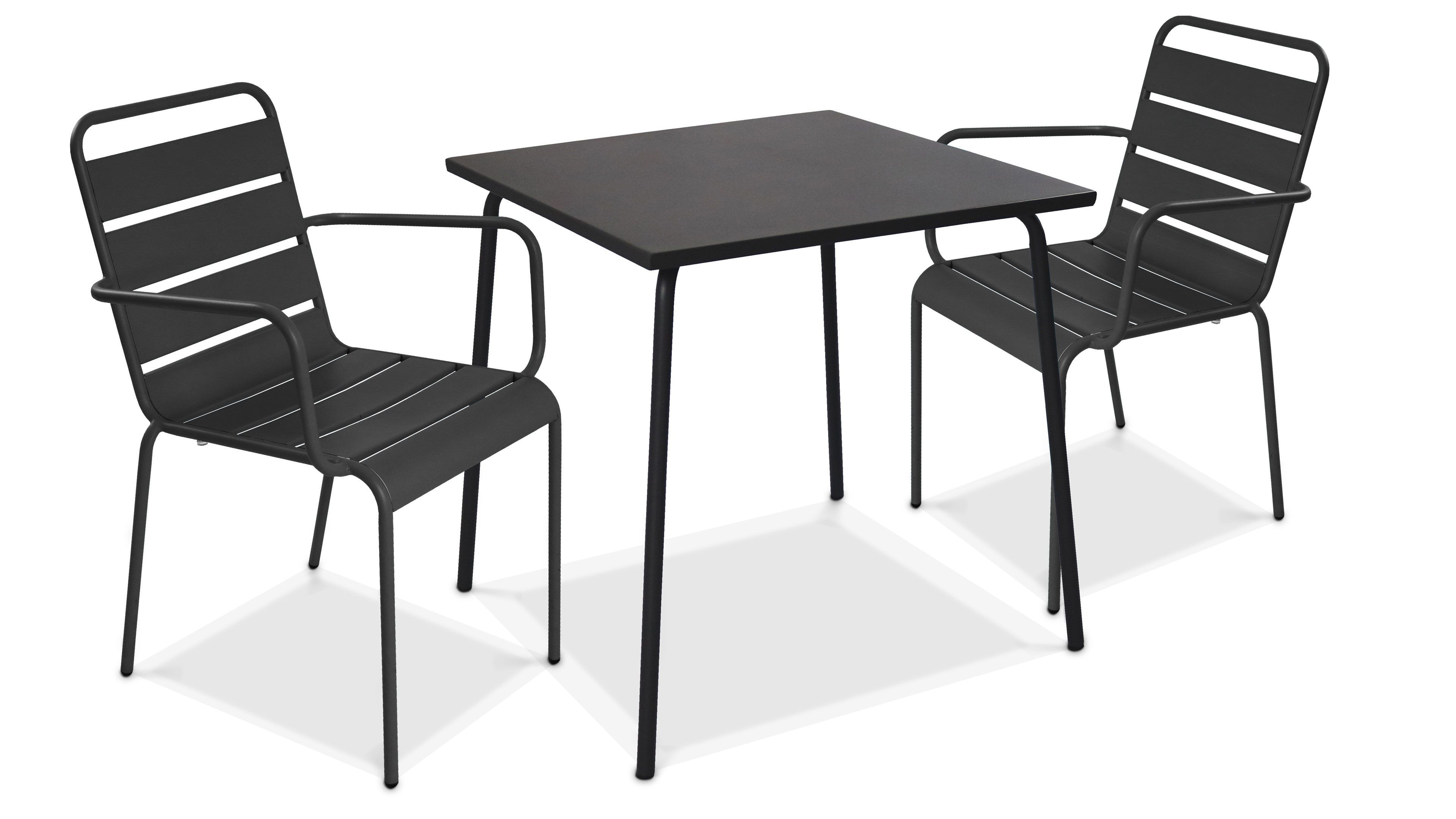 table de jardin bistrot carree 70cm 2
