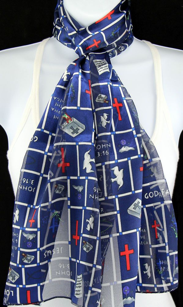 John 316 womens scarf christian jesus bible religious gift her blue john 316 womens scarf christian jesus bible religious gift her blue scarves new negle Images