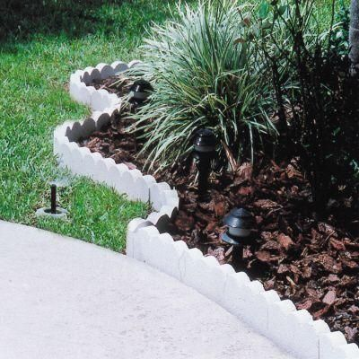Oldcastle 15 75 In X 5 5 In X 2 In White Straight Scallop Concrete Edger 14200710 The Home Depot Concrete Edger Concrete Edging Garden Border Edging