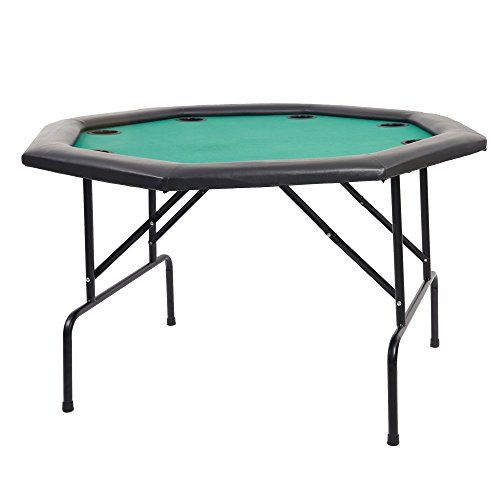 Dportiucs games 48 octagon poker table with folding steel legs and dportiucs games 48 octagon poker table with folding steel legs and cup holders green watchthetrailerfo