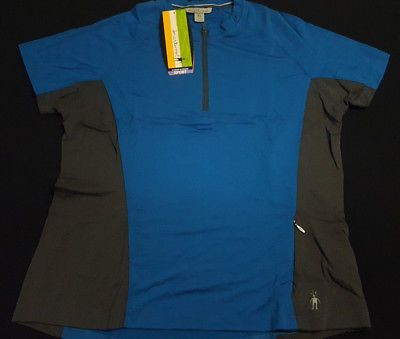 Womens Smartwool Cottonwood Bicycle Jersey for Cycling - Blue - X-Large3  Size - XL f0743ead7