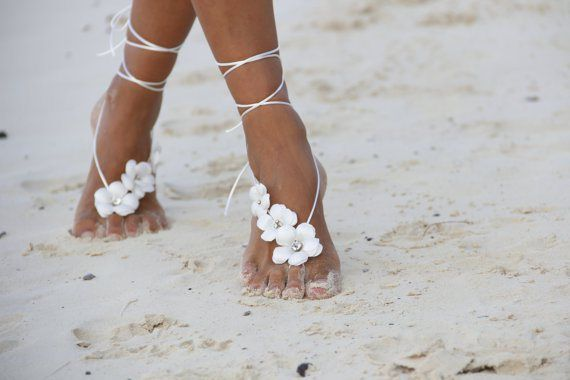 Editor S Pick The Perfect Beach Wedding Shoes That Aren T Shoes At All Beach Wedding Sandals Wedding Anklets Beach Wedding Shoes