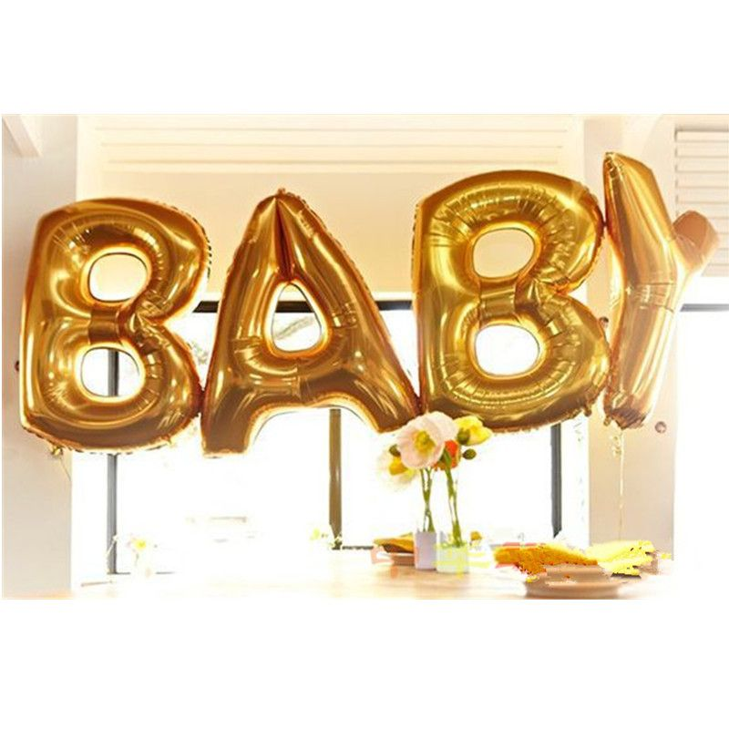 40 Inches Letter Balloon Baby Foil Balloons Children Happy Birthday
