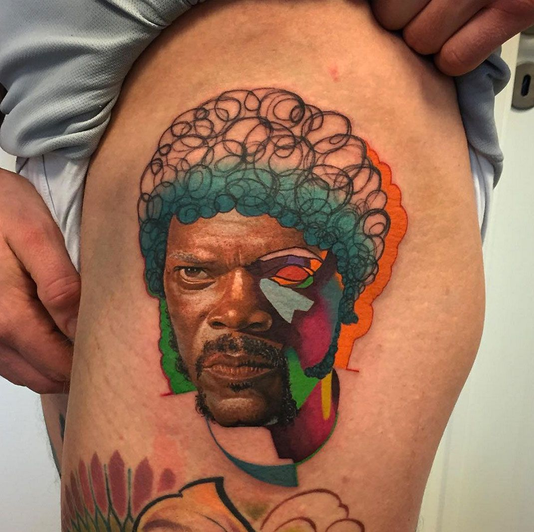 Tatouage réalisme / pop art by Dzikson Wildstyle #PulpFiction