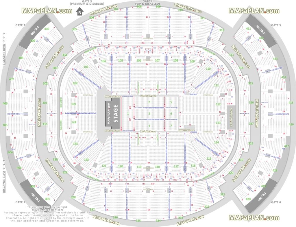 T Mobile Arena Seating Chart With Seat Numbers Miami Heat
