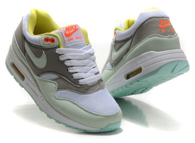 nike air max 1 dames grijs wit