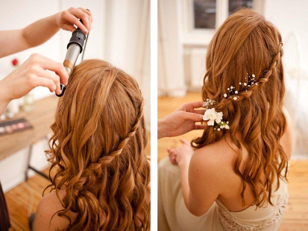 Locken definieren, mit Blumen dekorieren | Beauty | Pinterest