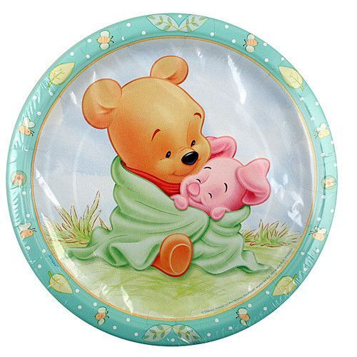 Disney Winnie The Pooh Party 9 Plates Pack Of 8 Plates