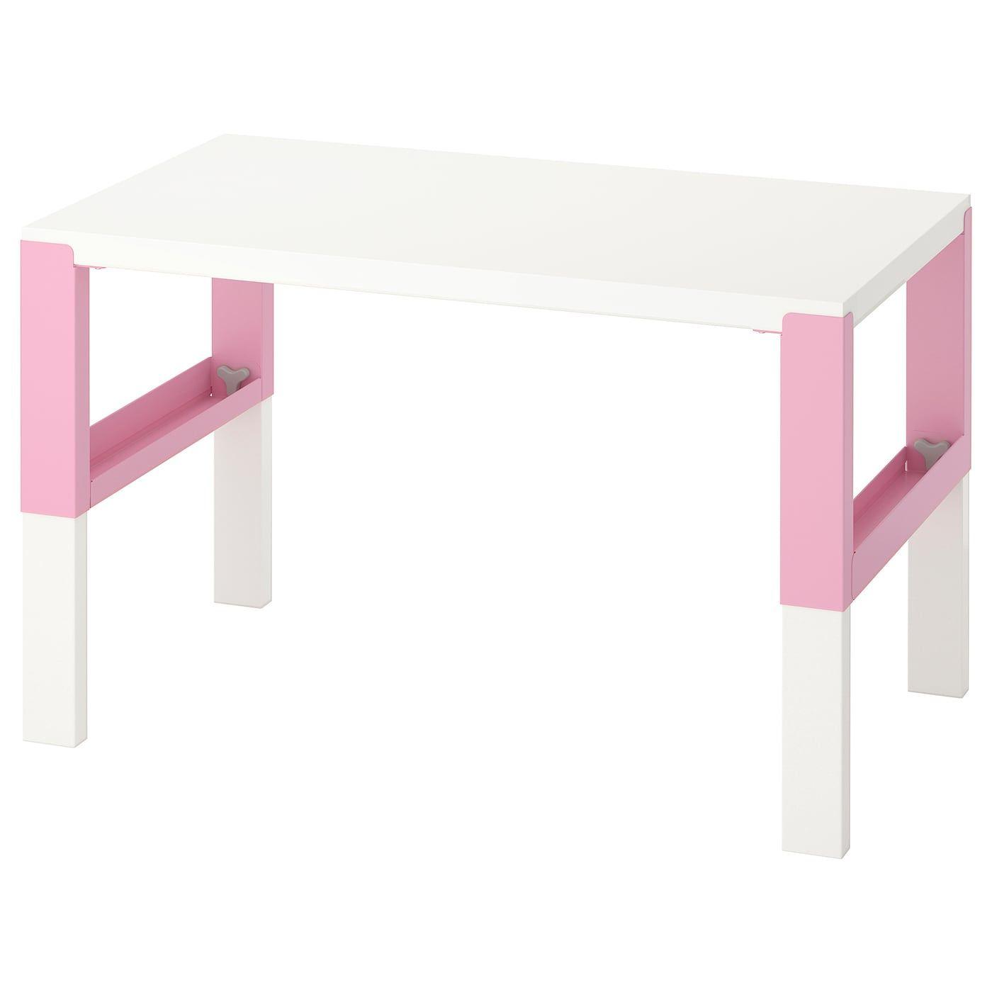 Pahl Desk White Pink Ikea In 2020 Schreibtisch Weiss Ikea Schreibtisch Schreibtischideen