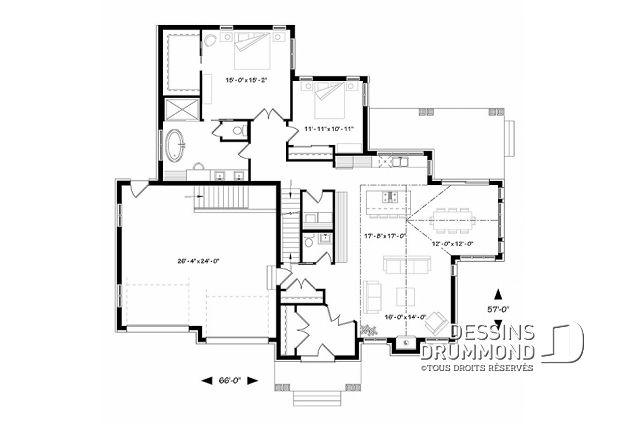 Plan de maison unifamiliale Ashton No W3285 Pinterest