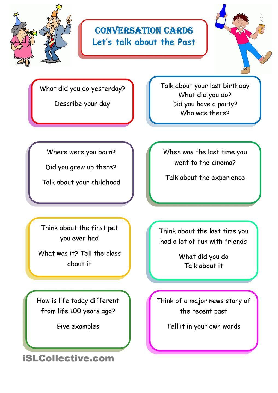 Conversation Cards Engelsk Pinterest Conversation Worksheets And Printable Worksheets [ 1440 x 1018 Pixel ]