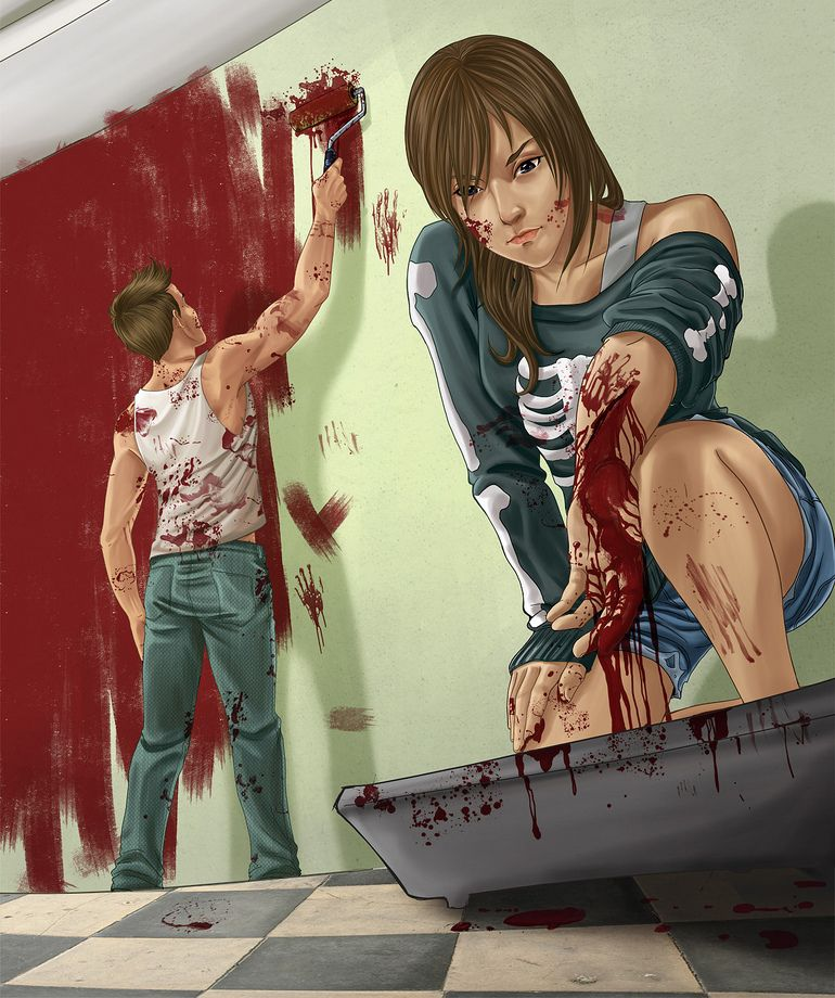 Tainá Camilo - #blood #illustration