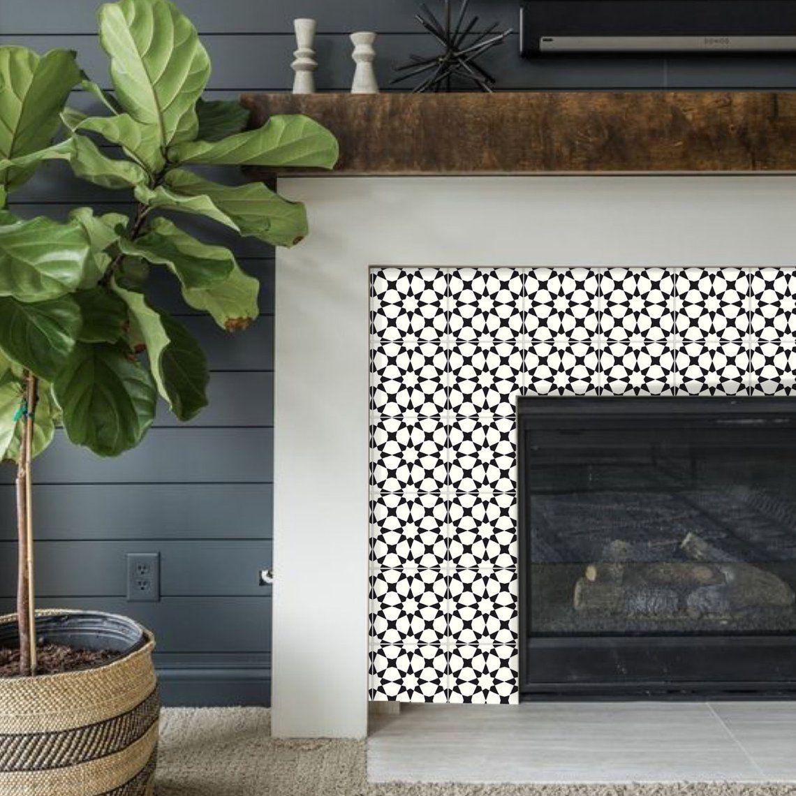 Tile Sticker Kitchen Bath Floor Fireplace Waterproof Removable Peel N Stick Bx302 Tile Stickers Kitchen Fireplace Tile Fireplace Tile Surround
