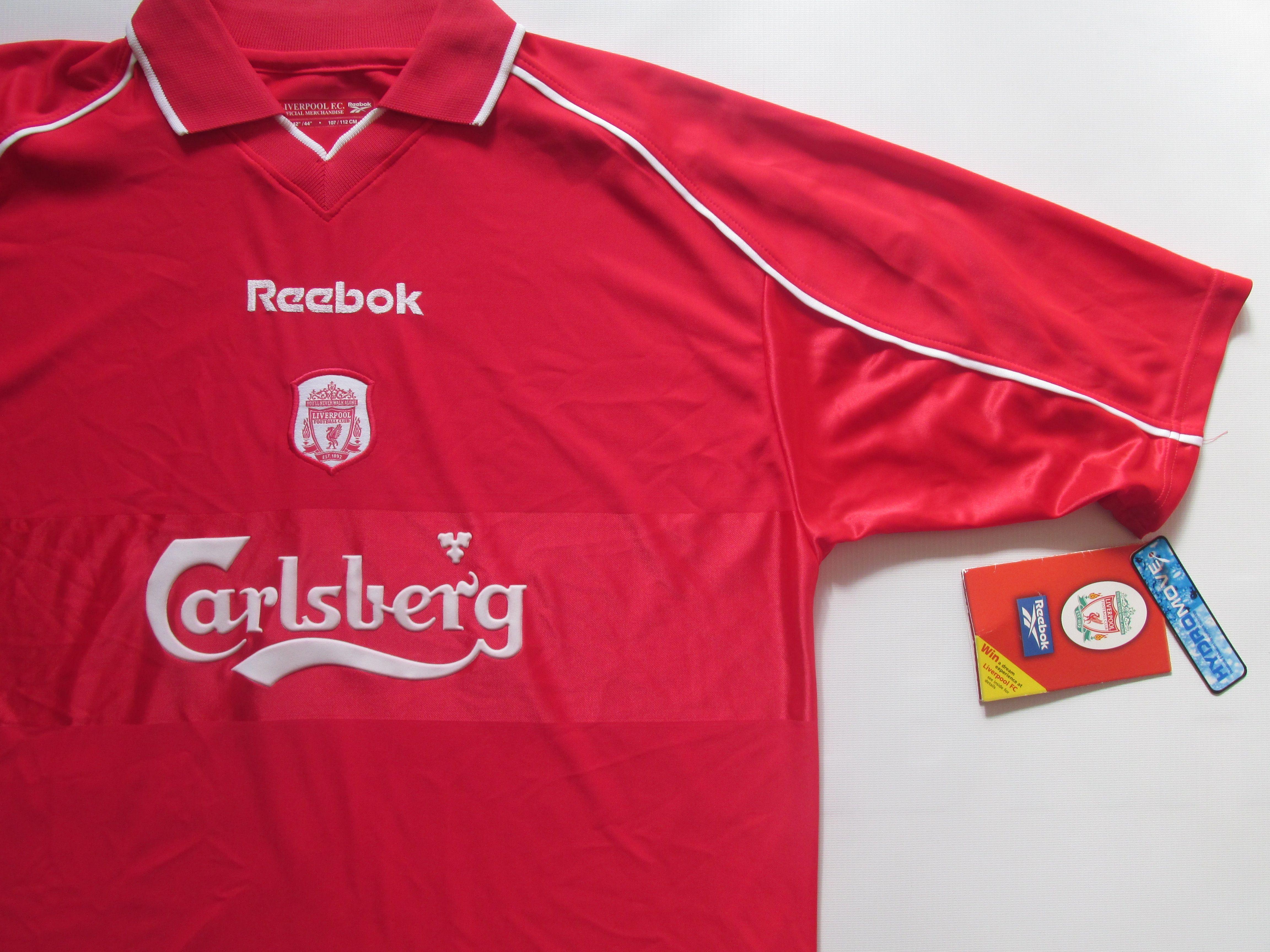 499f9648b39 Liverpool FC 2000 2001 2002 home football shirt by Reebok BNWT LFC Reds  England PremierLeague jersey vintage soccer  liverpool  ynwa  reds  LFC   anfield ...