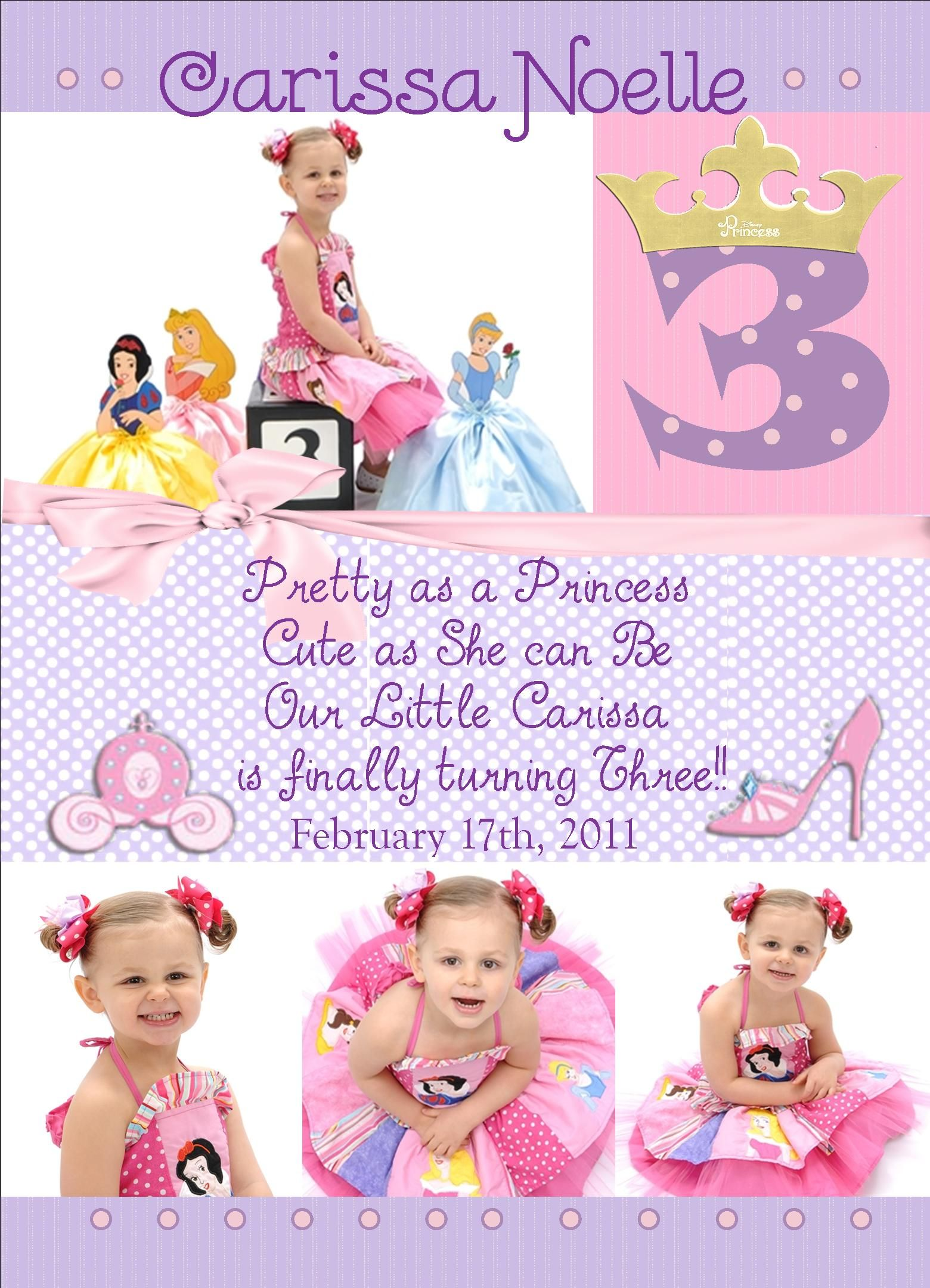 princess birthday invitation princess