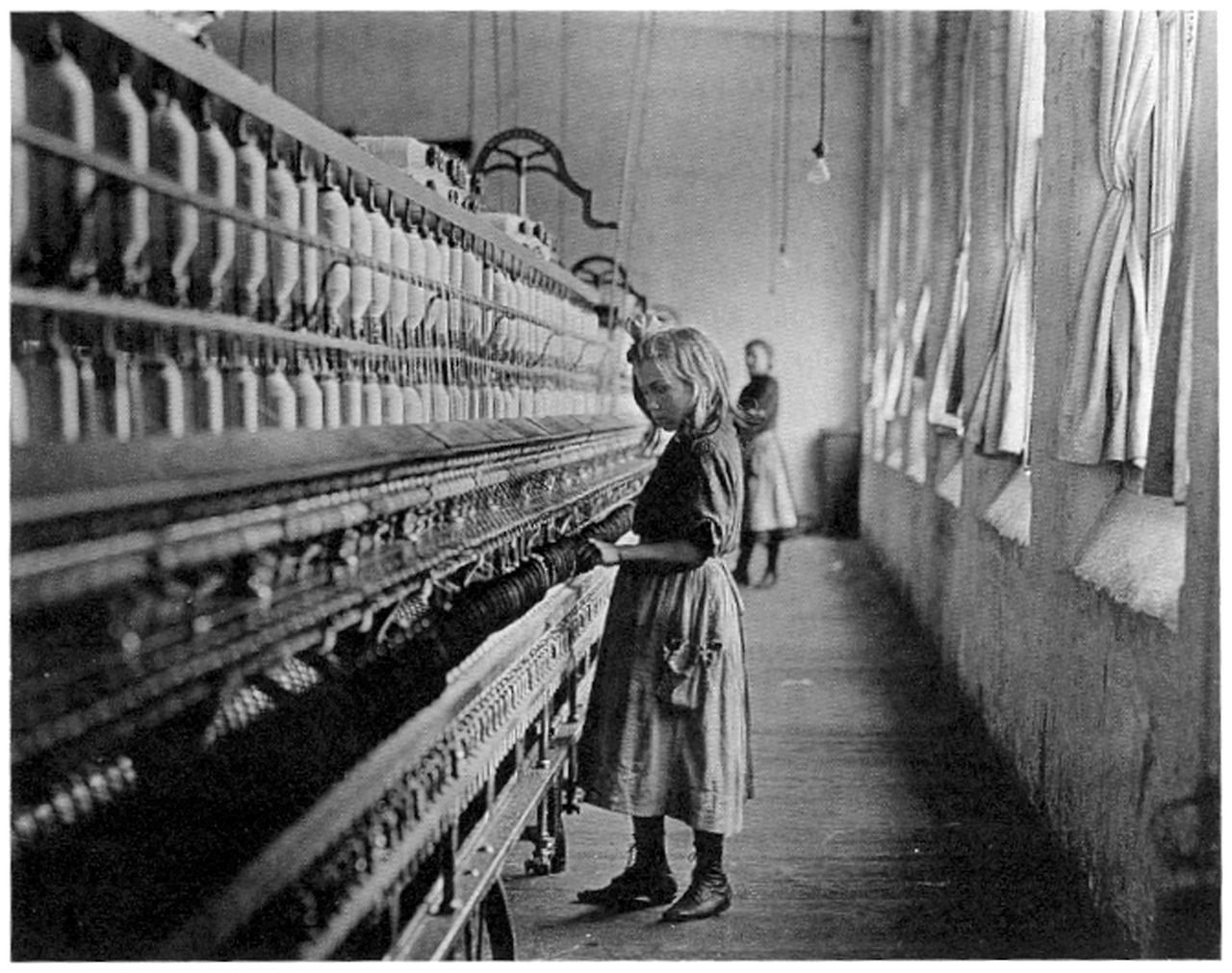 Young Children Working As A Laborer In Textile Mills