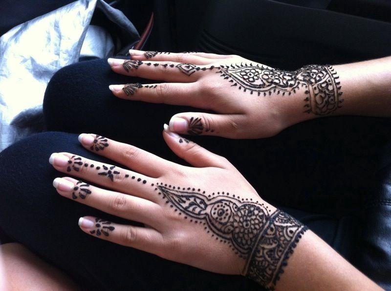 Henna! Wrist Cuff Design