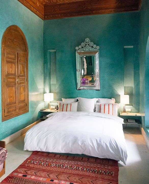 Une chambre comme dans un Riad Bleu vert violet noir Pinterest Dan
