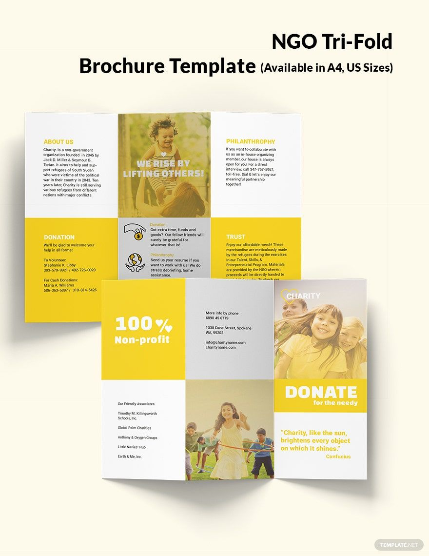 Ngo Tri Fold Brochure Template Free Publisher Illustrator Indesign Word Psd Template Net Trifold Brochure Template Trifold Brochure Brochure Template