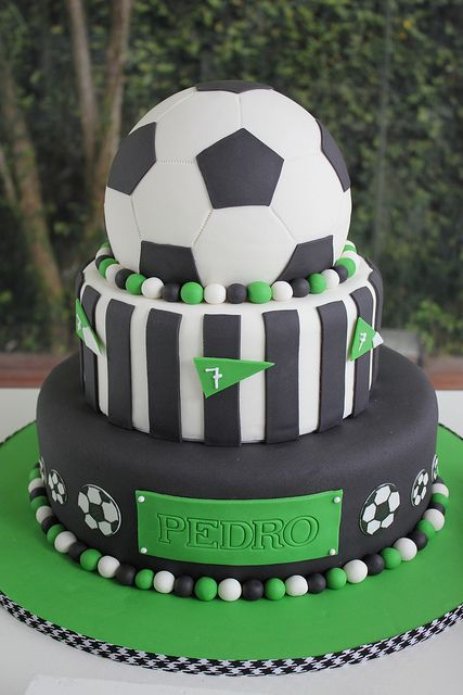Birthday Cake With A Soccer Theme Would Be Perfect For Kids Whether It Is Girl Or Boy If They Play The Game
