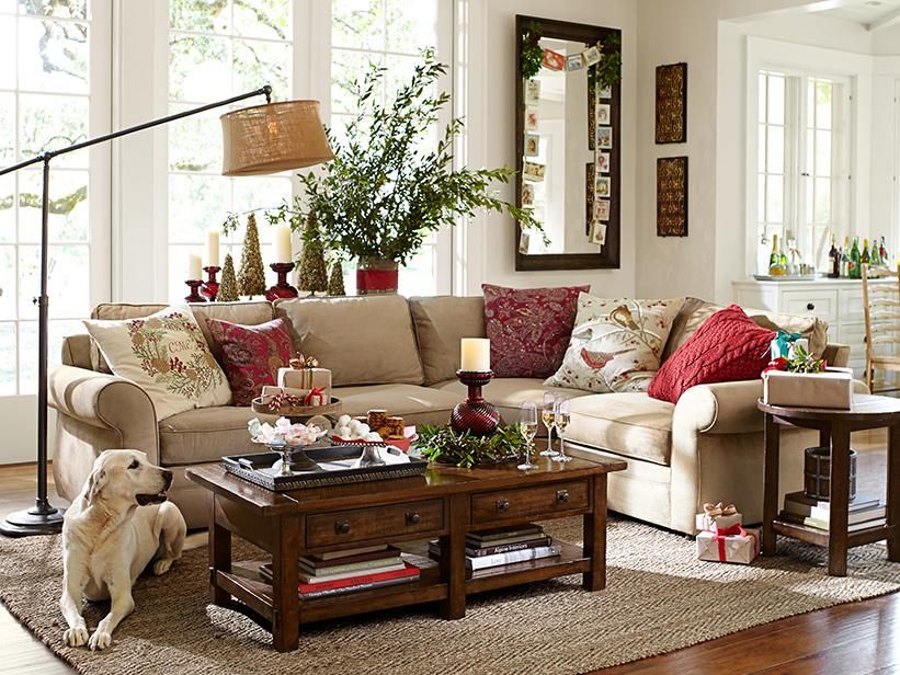 Warm And Inviting Living Room Pottery Barn Living Room