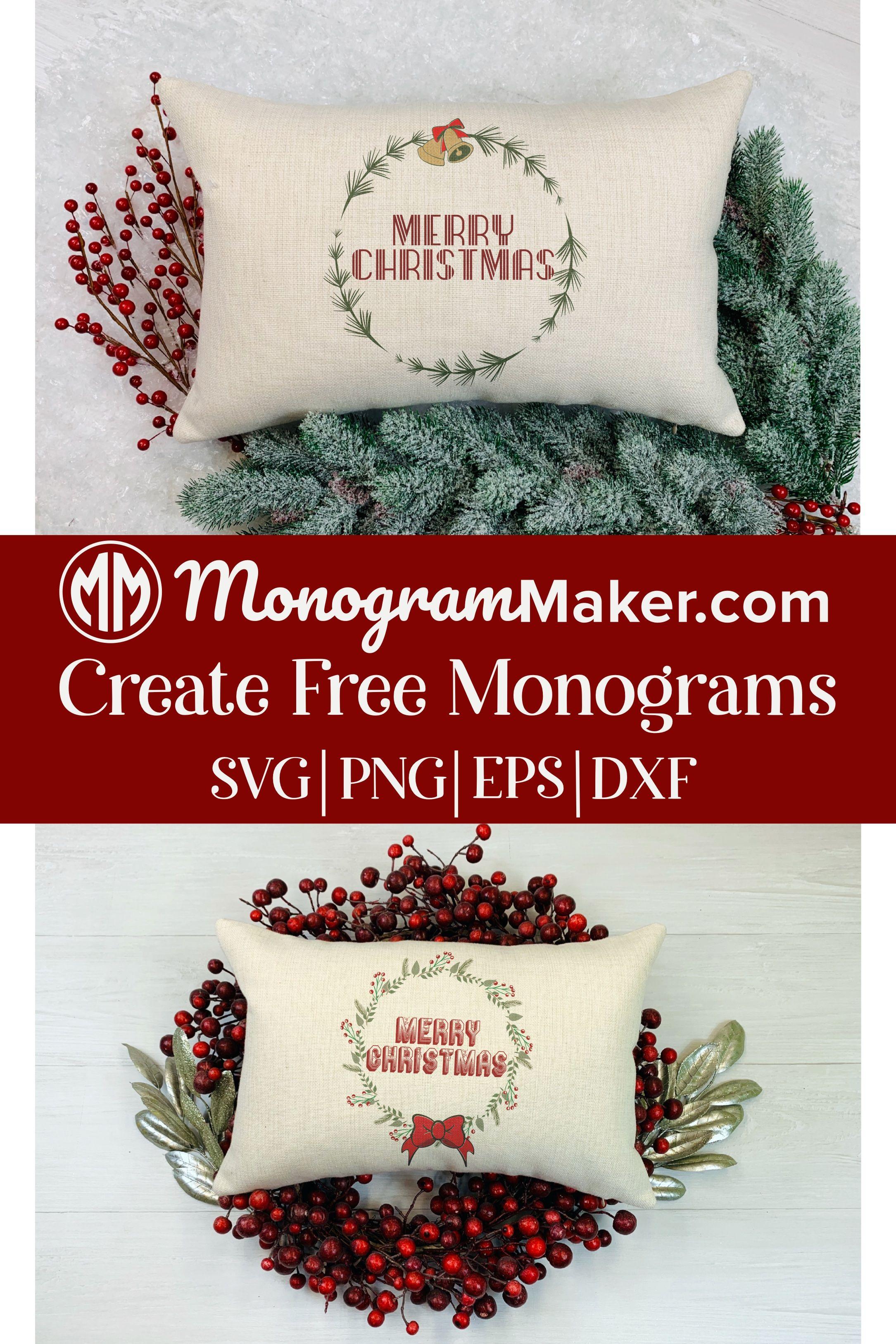 Christmas SVG Designs Free Christmas Monograms SVG