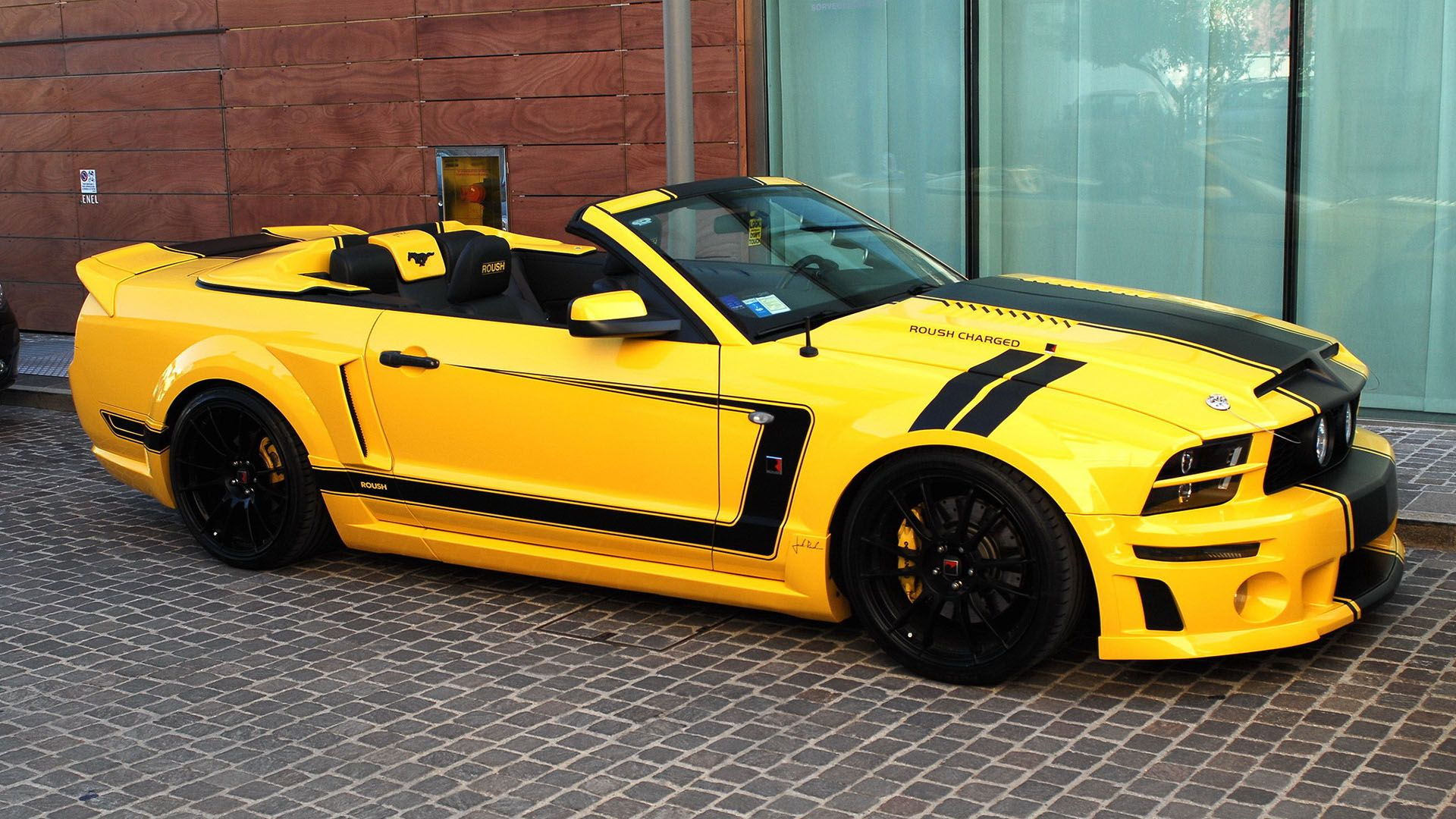 2014 mustang 5 0 file name 2014 ford mustang roush charged 5 0 yellow wallpaper cars. Black Bedroom Furniture Sets. Home Design Ideas
