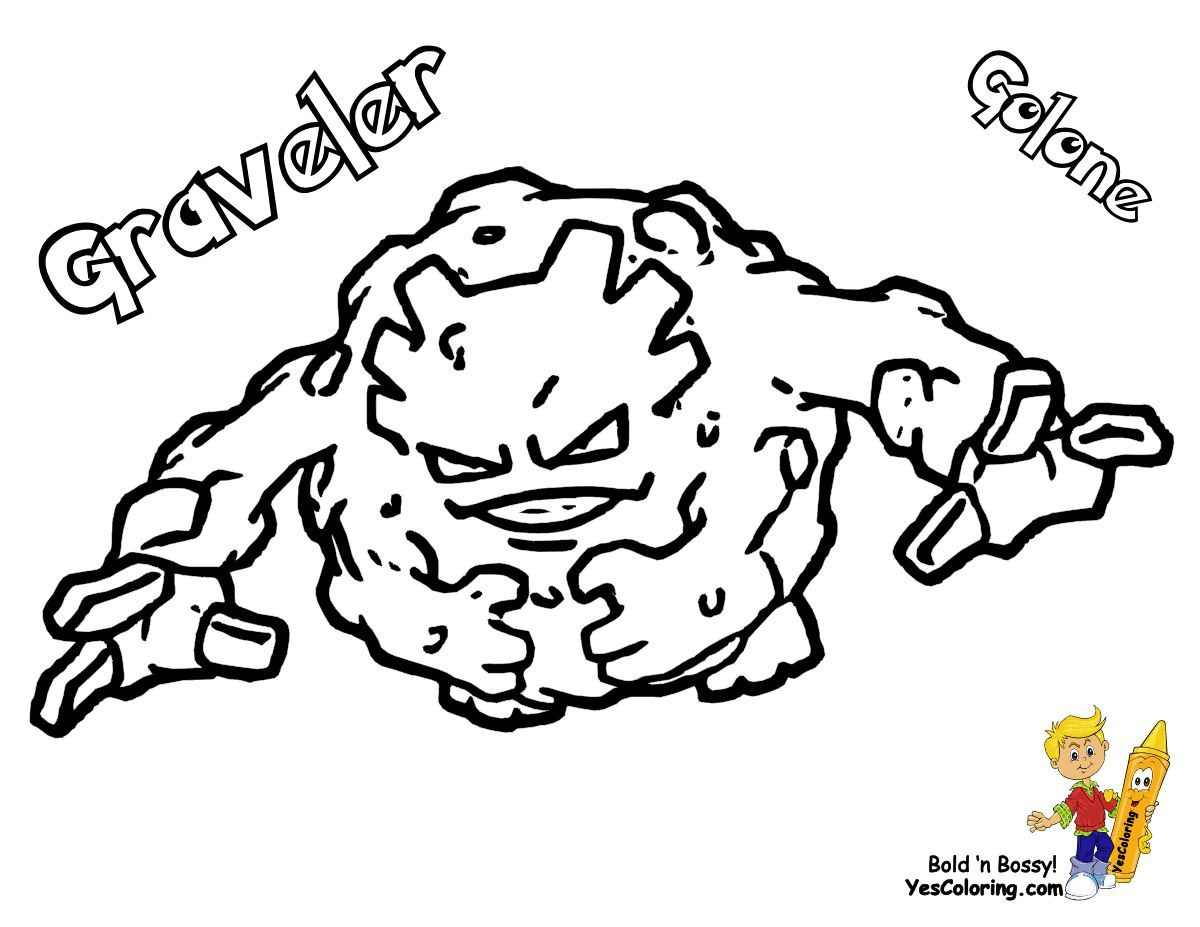 Print Out This Cool Photos Of Pokemon Coloring Graveler Whaat Tell Other Coloring Kids Your Eyeba Pokemon Coloring Pages Pokemon Photo Pokemon Printables