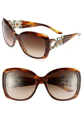 401b06c12b81 BVLGARI 57mm Embellished Temple Sunglasses available at  Nordstrom ...