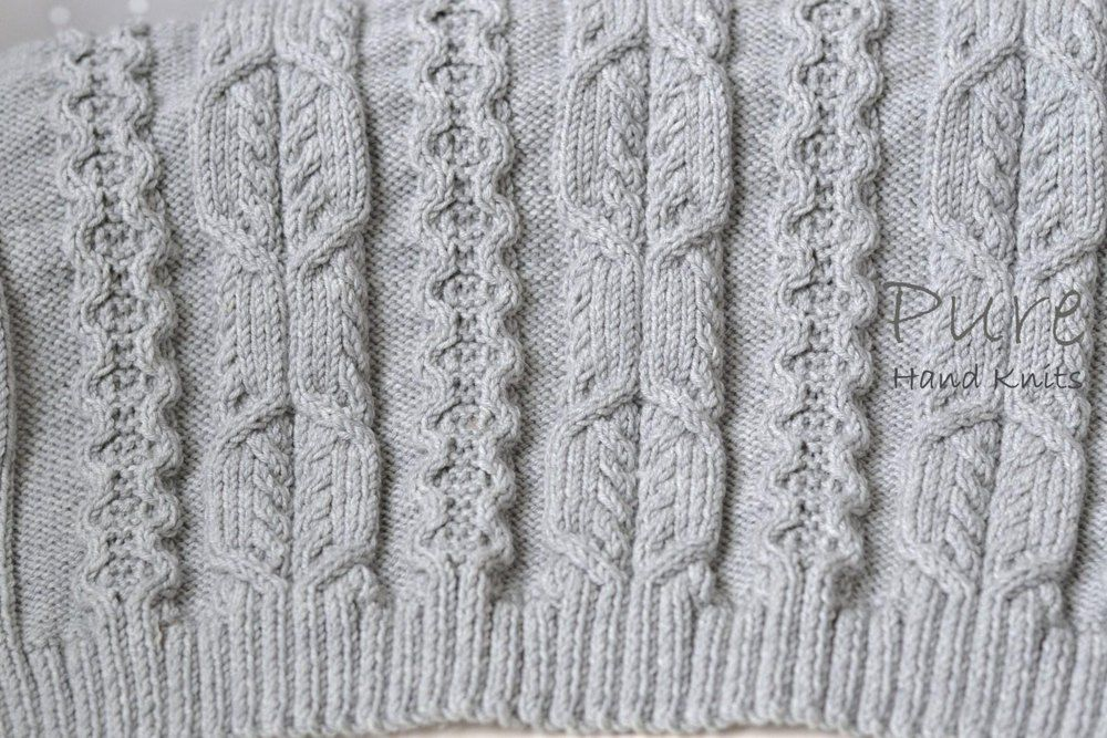 Pure Hand Knits by Linda Whaley.The blanket shown here is knitted in Rowan Super Fine Merino DK. Choose this yarn or any other DK yarn of your choice that recommends 4mm (US#6) needles.Detailed row by row instructions and charts are included in this pattern to knit this blanket in 3 sizes.Baby Blanket 62cms X 85cmsA suggested substitute yarn is shown below.Medium Blanket / Throw 92cms X133cmsLarge Blanket / Throw 126cms X 181cms