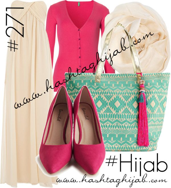Hashtag Hijab Outfit #271 by hashtaghijab featuring a chiffon evening gownAlice You chiffon evening gown€51 - dorothyperkins.comBenetton red long sleeve top€29 - benetton.comPointy toe pumps€32 - shopruche.comAccessorize beach tote bag€40 - monsoon.co.ukChiffon scarve€7,33 - chicastic.com