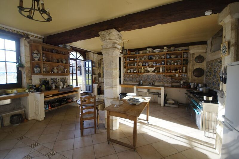 Classical French kitchen with country style dresser