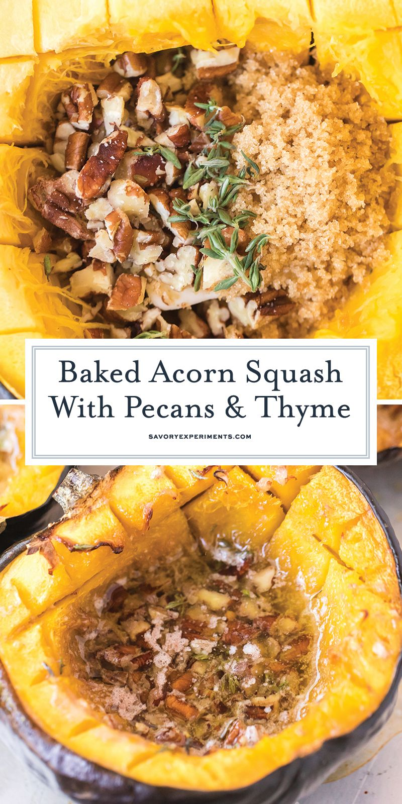 Baked Acorn Squash With Pecan Thyme Filling Is The Perfect Holiday