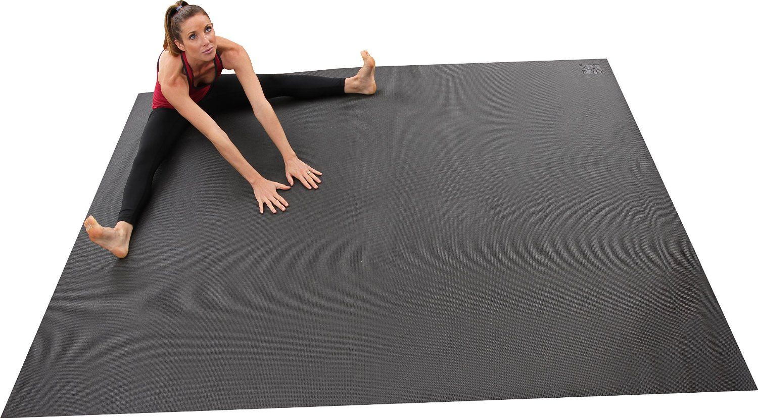 Amazon Com Largest Yoga Mat Available 8 X 6 96 X 72 4x Larger Than A Standard Yoga Mat Ideal For At Home Large Yoga Mat Yoga Studio Home Yoga Living