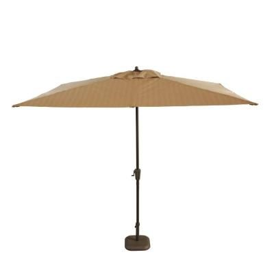 Hampton Bay Belleville 8 Ft Patio Umbrella In Brown Ucs00404d The Home Depot