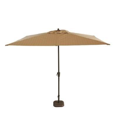Hampton Bay Belleville 8 Ft. Patio Umbrella In Brown UCS00404D   The Home  Depot