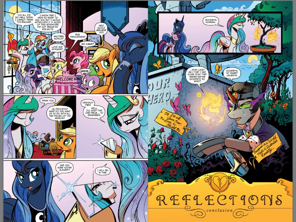 Discord Celestia Comic love it better then discord and celestia this is the