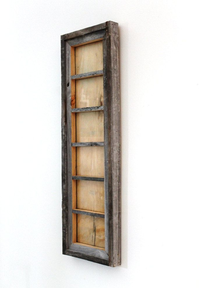 6 Opening 4x6 Picture Frame Distressed Reclaimed Wood Natural