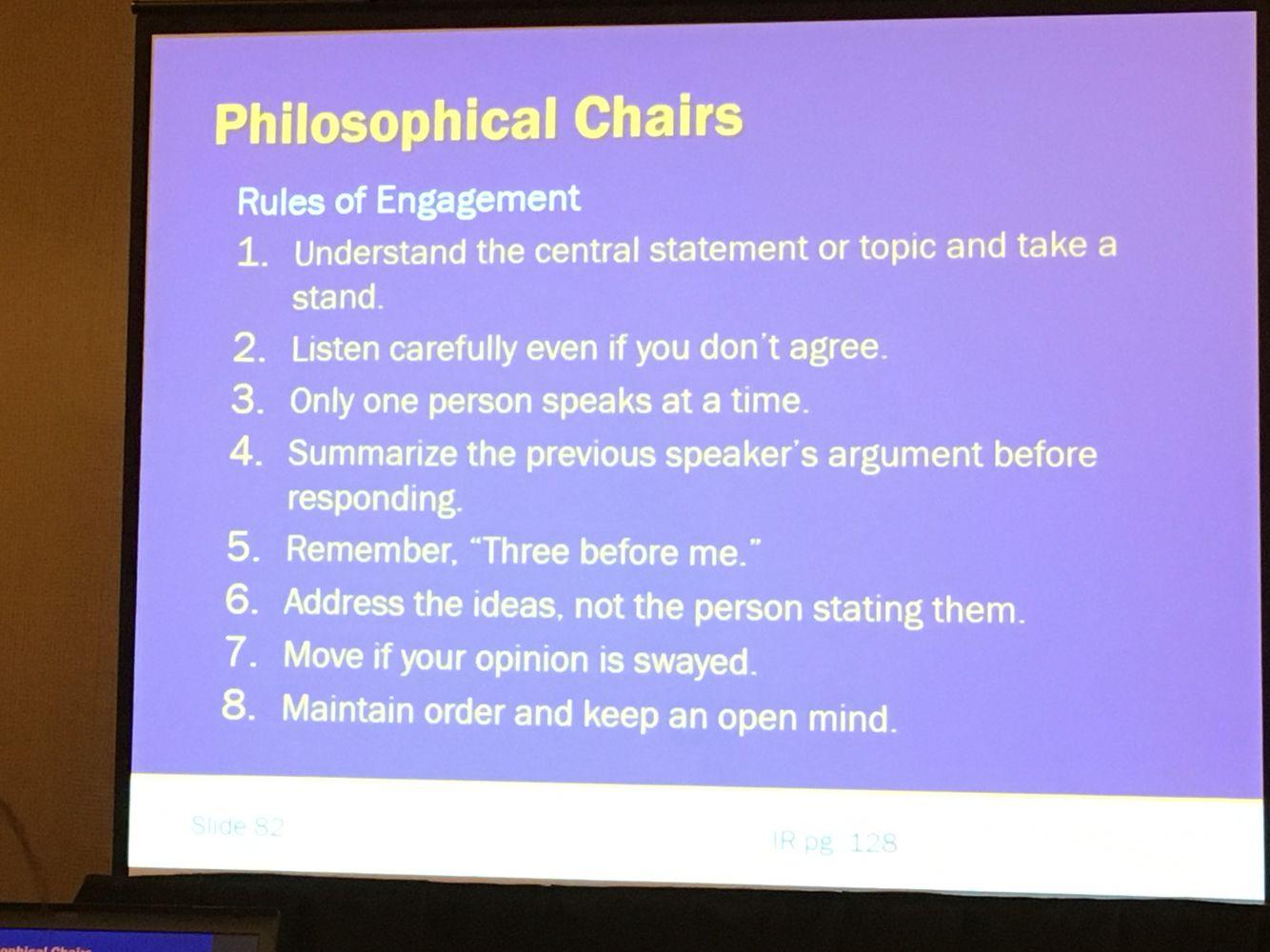philosophical chairs | avid ideas | pinterest | school, read 180