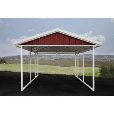 Best 12 Ft W X 26 Ft D Solid Wooden Garage Shed Canopy 400 x 300