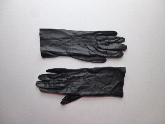 30fecd597 Vintage 60s Caresskin by Superb Black Thin Soft Fitted Long Leather Women's  Gloves Evening 3/4 Sleeve Driving Glove Elegant Mod Glam Garb