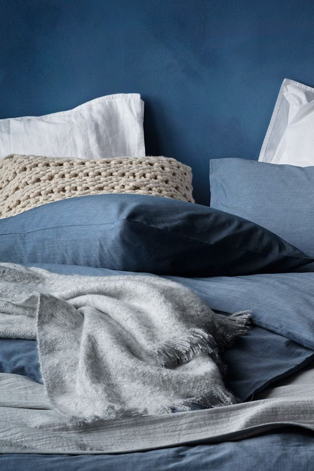 Duvet Cover Set In Woven Cotton Chambray Hm Home Hm Home