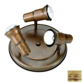 Lustrarte spot 3 light matte antique brass flush mount fixed track lustrarte spot 3 light matte antique brass flush mount fixed track light kit mozeypictures Gallery