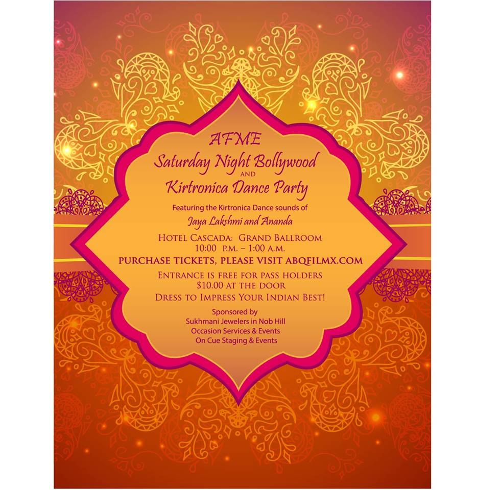Wedding Invitations Albuquerque: Albuquerque Film And Media Events (AFME) Saturday Night