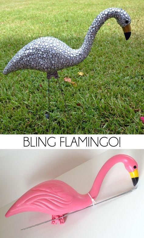 Bling Flamingo Unique Garden Decor Unique Gardens 640 x 480